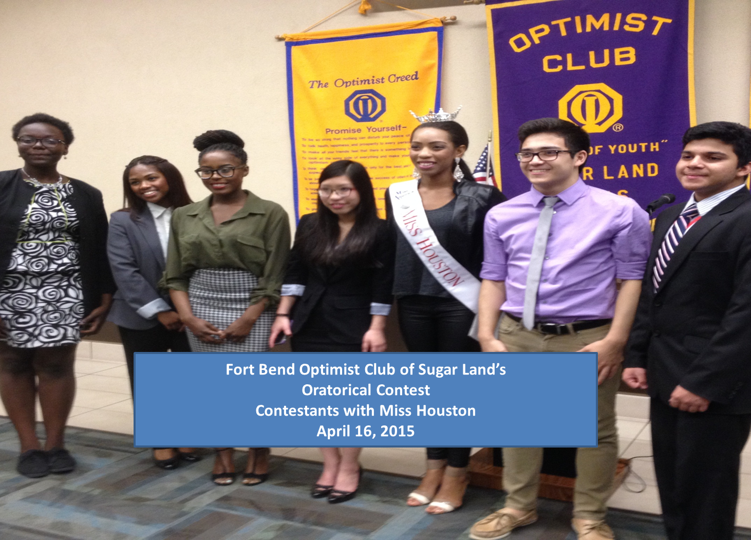 programs fort bend optimist club sugar land miss optimist club oratorical 2015